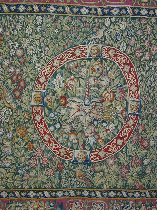 Transplanted A Floral Tapestry Woven Table Carpet Once At